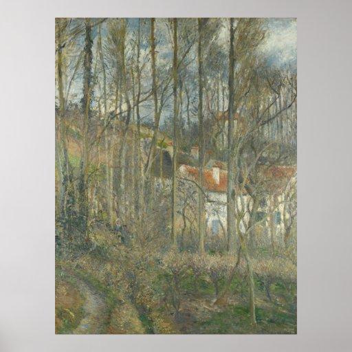 Camille Pissarro - ermita 1877 de Pontoise Côte Posters