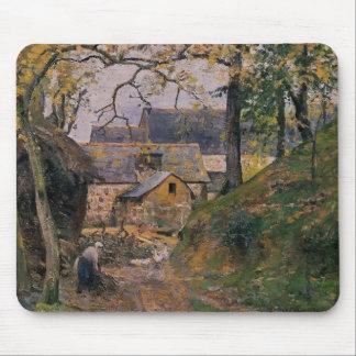 Camille Pissarro- Farm at Montfoucault Mouse Pad