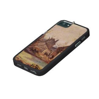 Camille Pissarro- Farmyard in Pontoise iPhone 5/5S Case