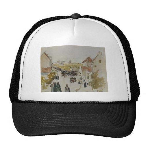 Camille Pissarro- Feast Day in Knokke Mesh Hats
