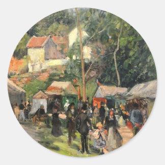 Camille Pissarro- Festival at the Hermitage Sticker