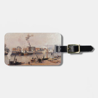 Camille Pissarro- Foggy Morning, Rouen Luggage Tag