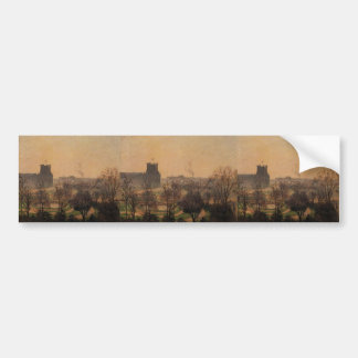 Camille Pissarro- Garden of the Louvre Fog Effect Bumper Stickers