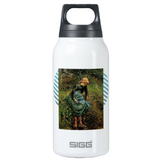 Camille Pissarro- Girl with a Stick 10 Oz Insulated SIGG Thermos Water Bottle