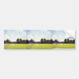 Camille Pissarro- Hampton Court Green, London Car Bumper Sticker