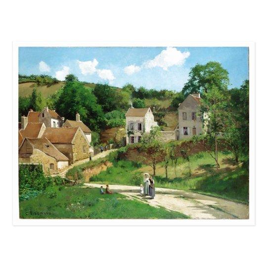 Camille Pissarro - Hermitage Pontoise 1867 Oil Postcard