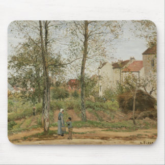 Camille Pissarro - Houses at Bougival Mouse Pad