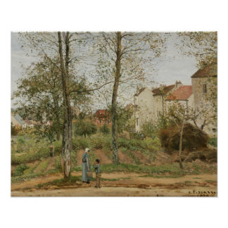 Camille Pissarro - Houses at Bougival Poster