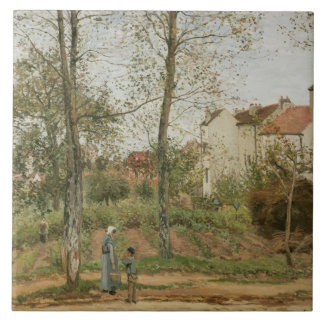 Camille Pissarro - Houses at Bougival Tile