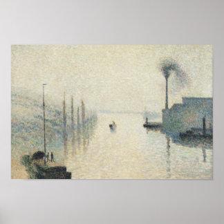Camille Pissarro - la isla Lacroix, Ruán Póster