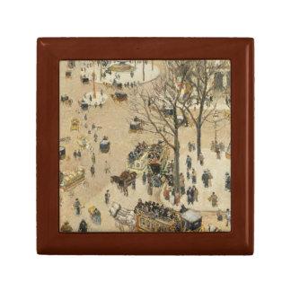 Camille Pissarro - La Place due Theatre Francais Keepsake Box