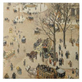 Camille Pissarro - La Place due Theatre Francais Tile