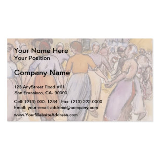 Camille Pissarro- La Ronde Business Card Template