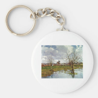 Camille Pissarro - Landscape Flooded Fields 1873 Keychain
