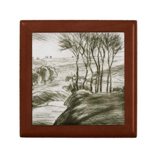Camille Pissarro - Landscape Near Osny (State II) Gift Box