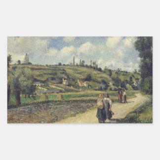 Camille Pissarro - Landscape near Pontoise Rectangular Sticker