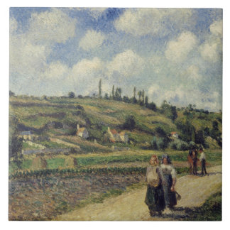 Camille Pissarro - Landscape near Pontoise Tile