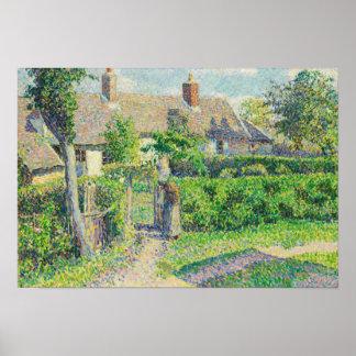 Camille Pissarro - las casas de los campesinos, Póster