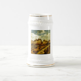 Camille Pissarro - Le Pont-Neuf 1902 City Scape Beer Stein