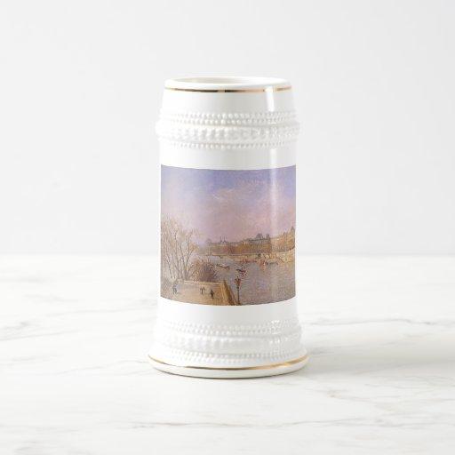 Camille Pissarro - Louvre Morning 1901 oil canvas Coffee Mugs
