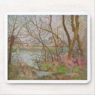 Camille Pissarro - madereros Pontoise gris 1878 Tapete De Ratones