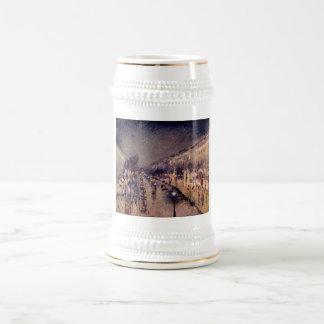 Camille Pissarro - Montmartre blvd @ Night 1898 Beer Stein