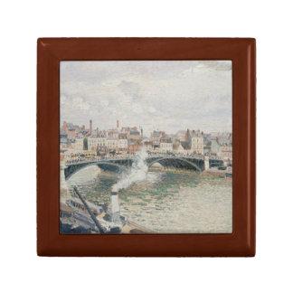 Camille Pissarro - Morning, An Overcast Day, Rouen Keepsake Box