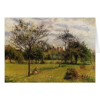 Camille Pissarro- Morning, Autumn Sunlight, Eragny Greeting Card
