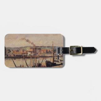 Camille Pissarro- Morning, Rouen, the Quays Travel Bag Tags