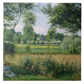 Camille Pissarro - Morning Sunlight Effect, Eragny Tile