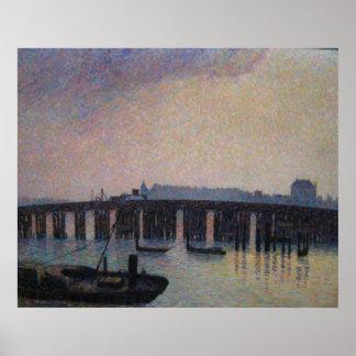 Camille Pissarro - Old Chelsea Bridge 1871 London Poster