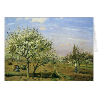 Camille Pissarro- Orchard in Blossom, Louveciennes Greeting Card