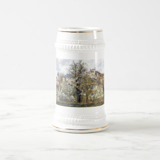 Camille Pissarro - Orchard w/ Flowering Trees 1877 Beer Stein