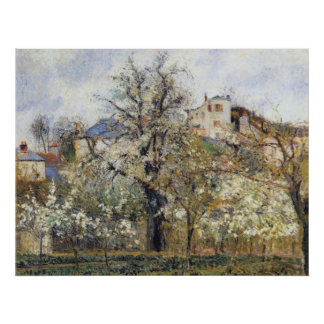 Camille Pissarro - Orchard w/ Flowering Trees 1877 Poster