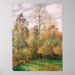 Camille Pissarro - otoño, álamos, Eragny Poster