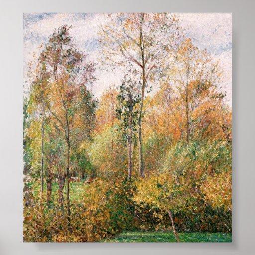 Camille Pissarro - otoño, álamos, Eragny Posters