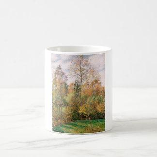 Camille Pissarro - otoño, álamos, Eragny Taza Mágica