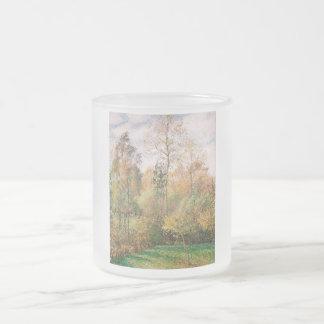 Camille Pissarro - otoño, álamos, Eragny Taza Cristal Mate