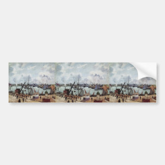Camille Pissarro- Outer harbour of Le Havre Bumper Stickers