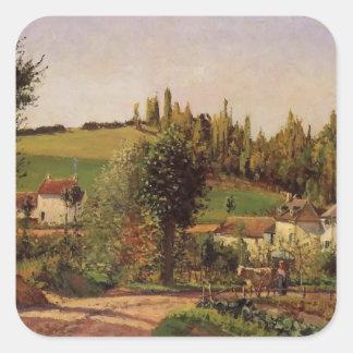 Camille Pissarro- Path of Hermitage at Pontoise Sticker