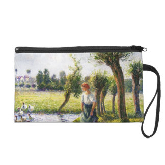 Camille Pissarro- Peasant Woman Watching the Geese Wristlet