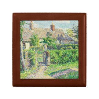 Camille Pissarro - Peasants' houses, Eragny Keepsake Box