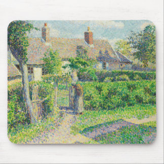 Camille Pissarro - Peasants' houses, Eragny Mouse Pad