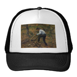 Camille Pissarro- Pere Melon Sawing Wood, Pontoise Trucker Hat
