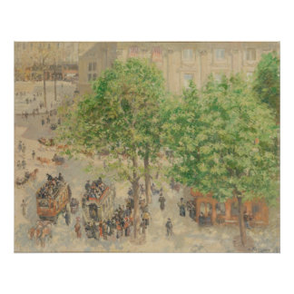Camille Pissarro - Place Theatre French 1898 Oil Posters