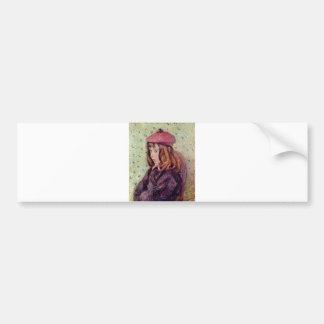 Camille Pissarro - Portrait Felix 1881 Oil Canvas Bumper Sticker