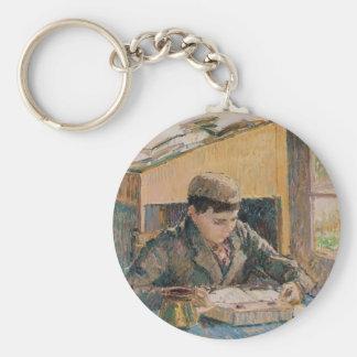 Camille Pissarro- Portrait of Rodo Reading Key Chain