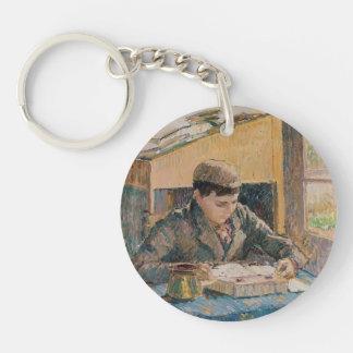 Camille Pissarro- Portrait of Rodo Reading Acrylic Keychain