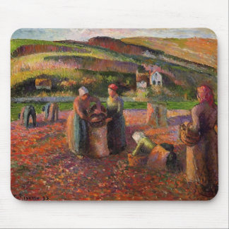 Camille Pissarro- Potato Harvest Mouse Pad