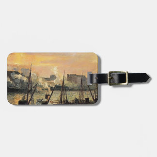 Camille Pissarro- Quay in Rouen Sunset Travel Bag Tags